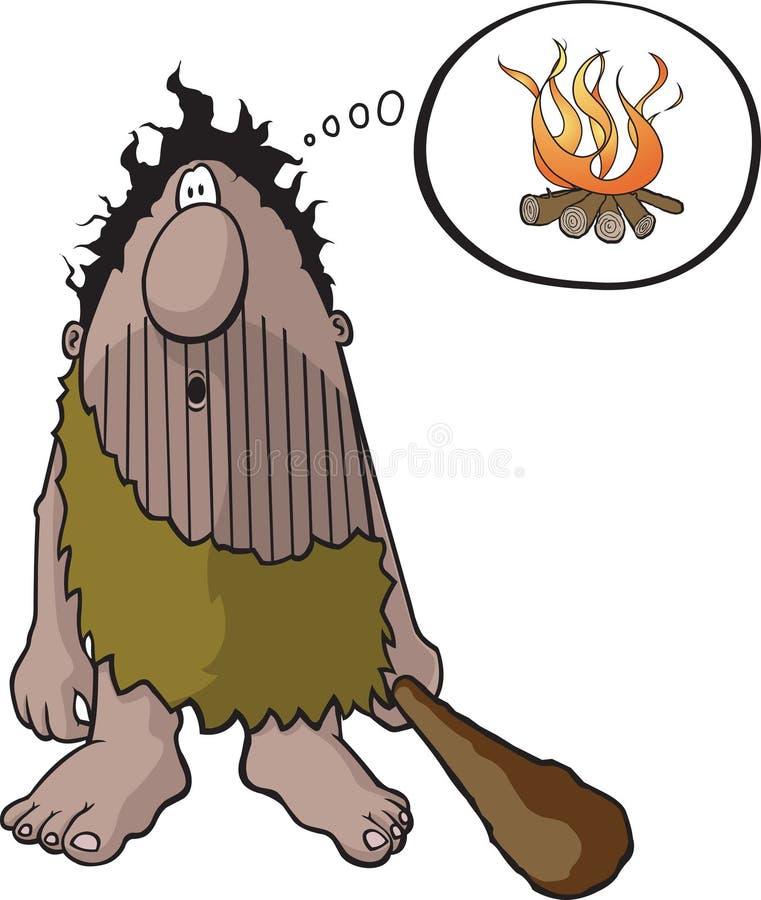 caveman pomysł ilustracja wektor