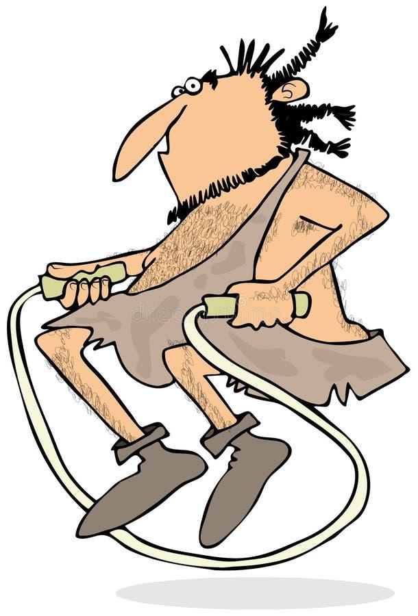 Caveman skokowa arkana ilustracji