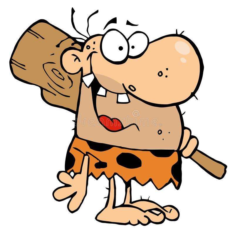 caveman szczęśliwy świetlicowy ilustracja wektor
