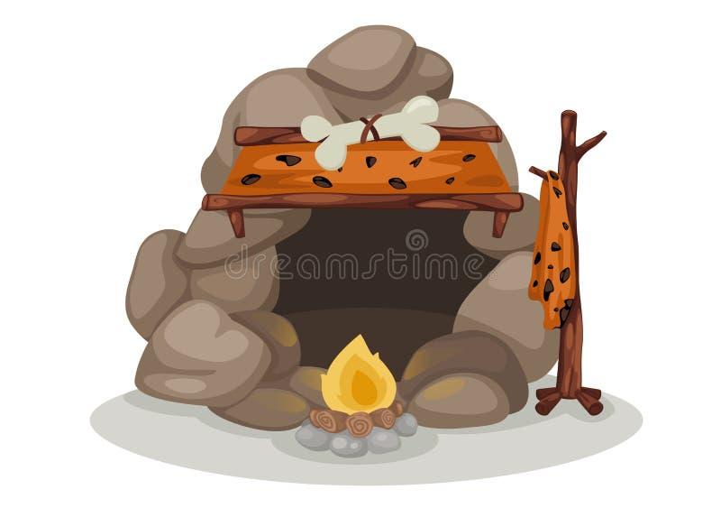Caveman wektor ilustracja wektor