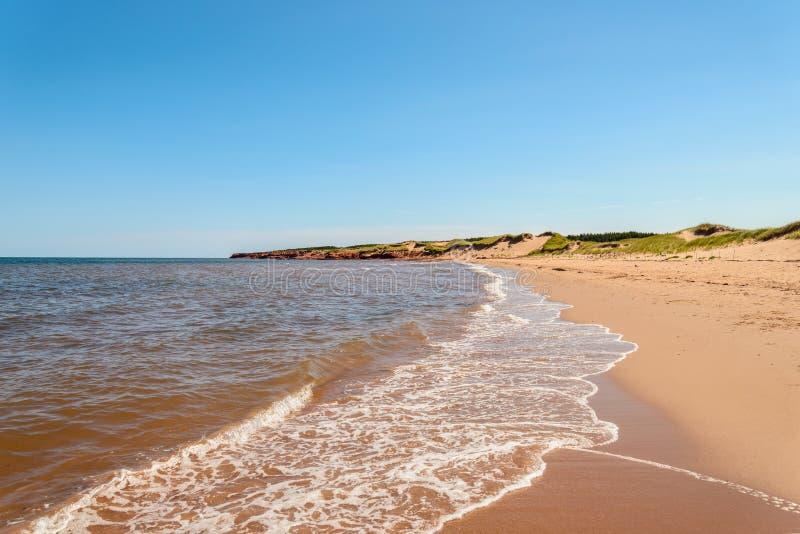 Cavendish-Strand in Prinzen Edward Island National Park lizenzfreie stockfotografie