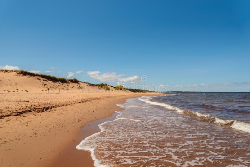 Cavendish-Strand in Prinzen Edward Island National Park lizenzfreies stockfoto