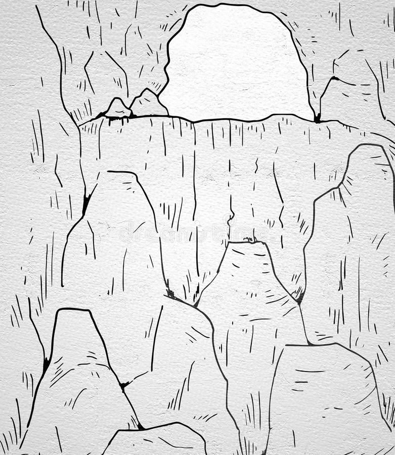 Cavern illustration. Creative design of cavern illustration royalty free illustration