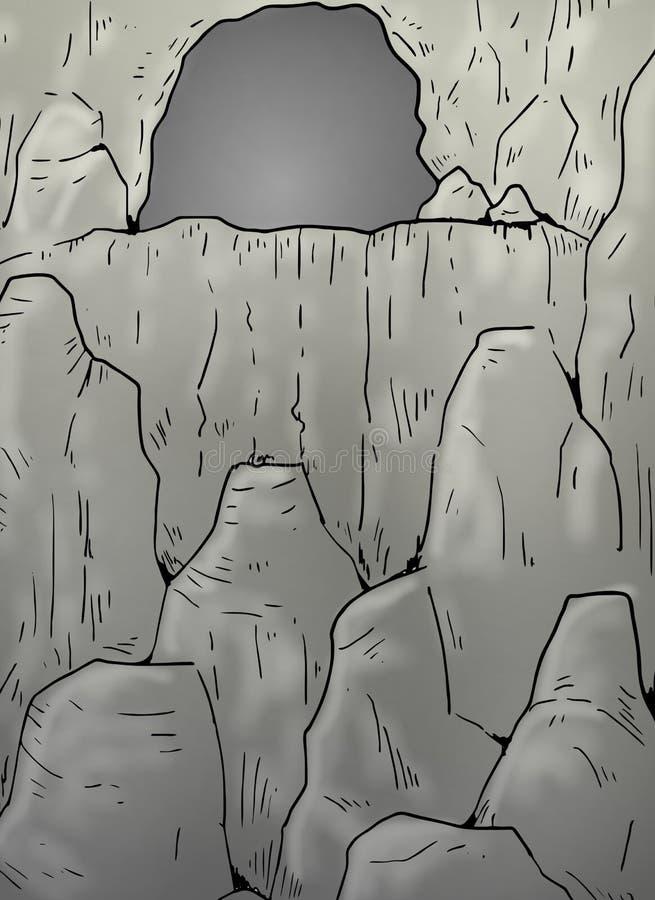 Cavern illustration. Creative draw of cavern illustration vector illustration