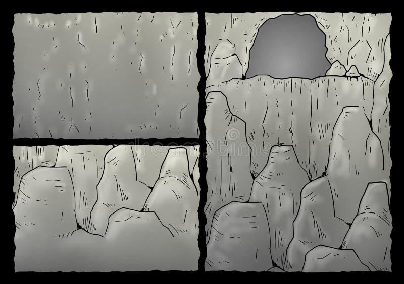 Cavern illustration. Imaginative design of cavern illustration royalty free illustration