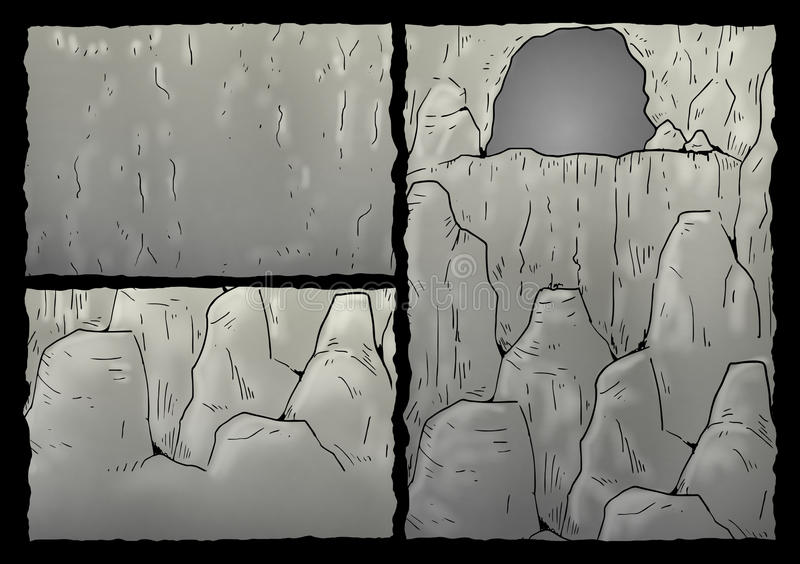 Cavern ilustracja royalty ilustracja