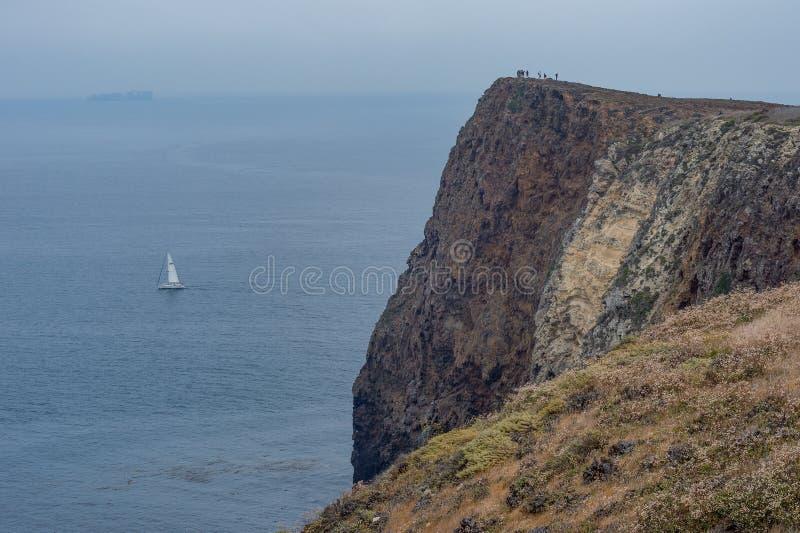 Cavern punkt, Santa Cruz wyspy, channel islands park narodowy zdjęcia stock