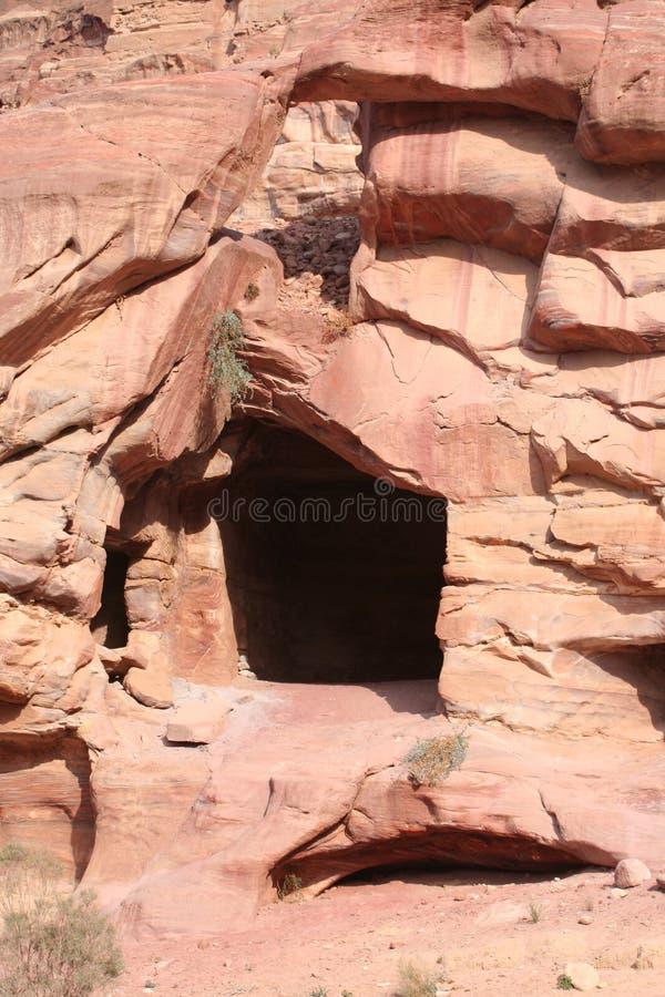 Caverna beduina fotografia stock libera da diritti