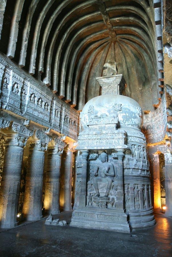 Caverna buddista di Ajanta fotografie stock libere da diritti