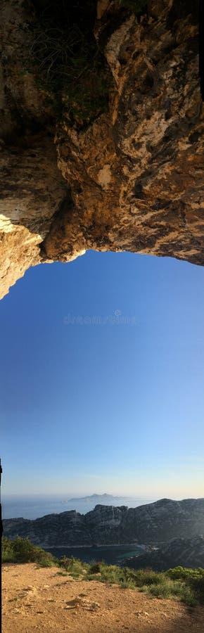Caverna Calanque fotografia de stock