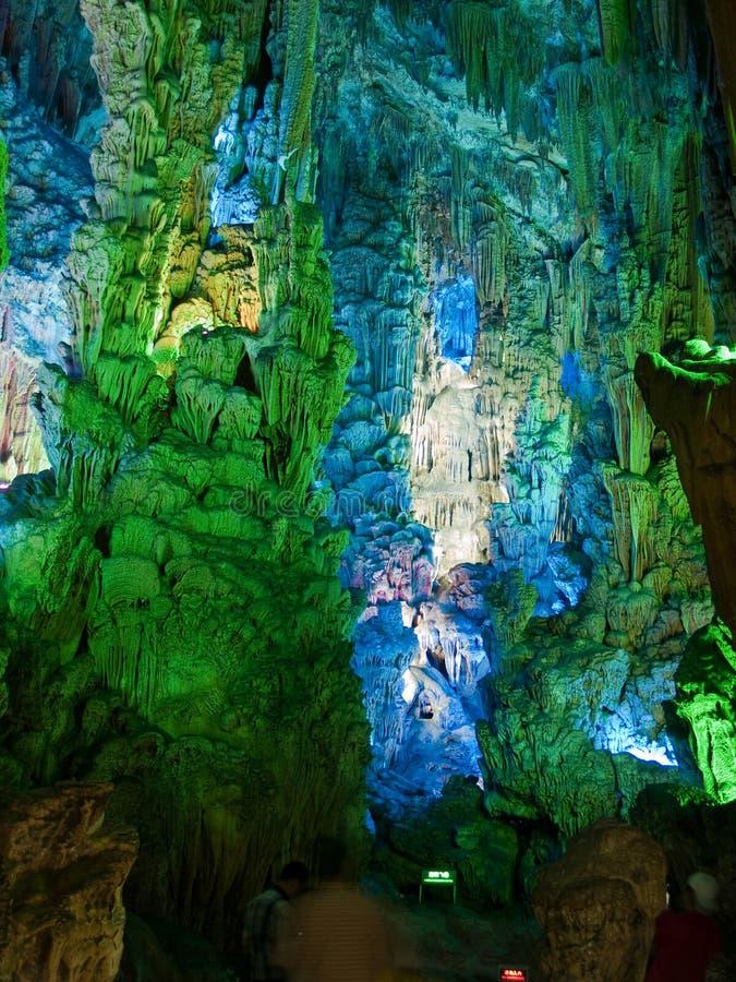 Caverna da flauta em Guiling foto de stock royalty free