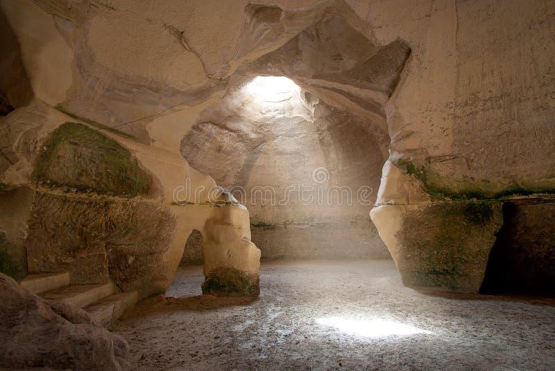 Caverna de Bell, Beit Govrin, Israel fotografia de stock