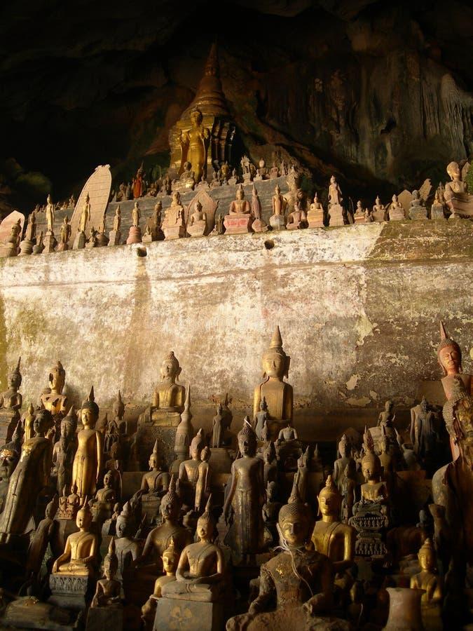 Caverna de Buddha imagem de stock