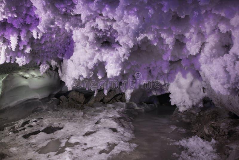 Caverna de gelo de Kungur Perm Krai Rússia imagem de stock royalty free