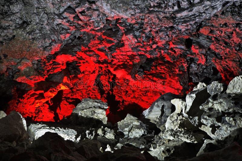 Caverna de gelo de Kungur Perm Krai Rússia fotografia de stock