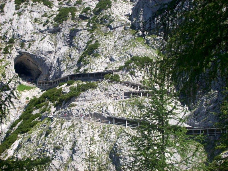 Caverna de gelo Eisriesenwelt, Werfen, Áustria fotos de stock royalty free