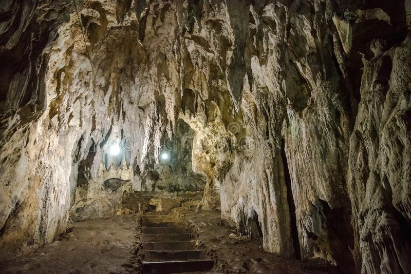 Caverna de Hoyop Hoyoan, Camalig, Albay imagem de stock