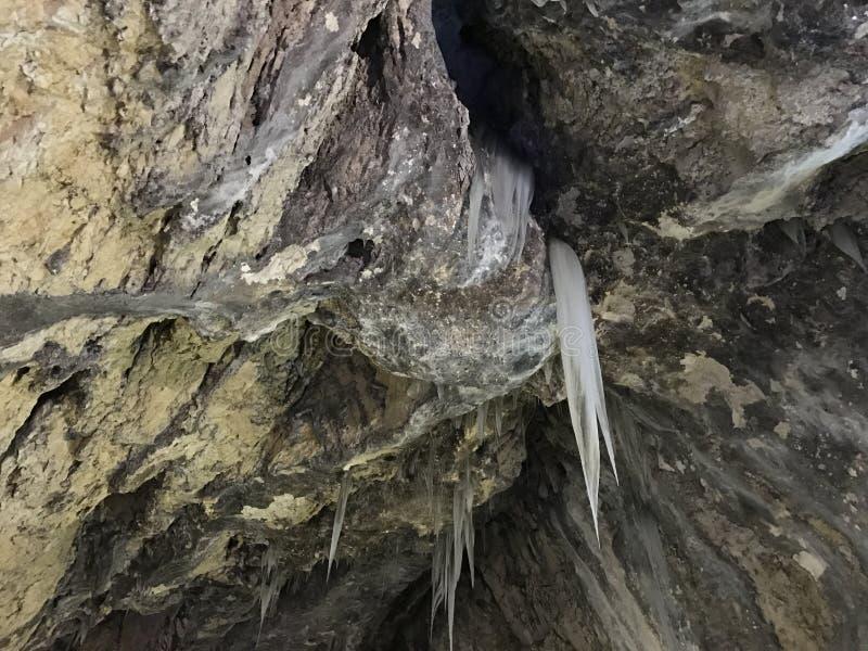 Caverna de Ialominta - interior imagem de stock