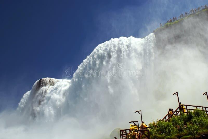 Caverna dei venti al parco di stato di cascate del Niagara immagine stock libera da diritti