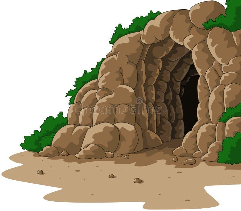 Caverna del fumetto isolata su fondo bianco illustrazione di stock