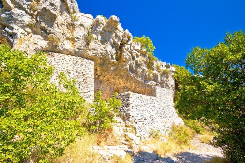 Caverna del ` s di Tito sull'isola di forza immagini stock