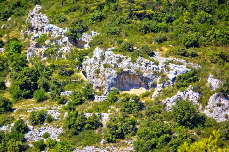 Caverna del ` s di Tito sull'isola di forza fotografia stock