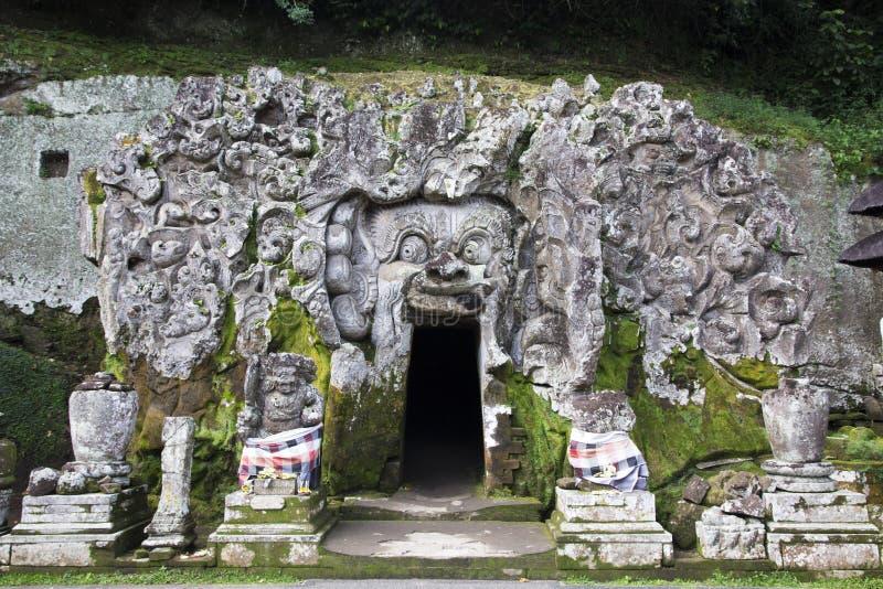 Caverna dell'elefante, tempio Bali Indonesia di Goa Gajah fotografia stock libera da diritti