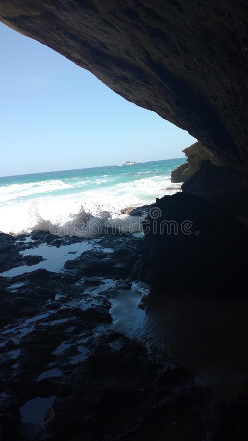 Caverna dell'oceano fotografie stock libere da diritti