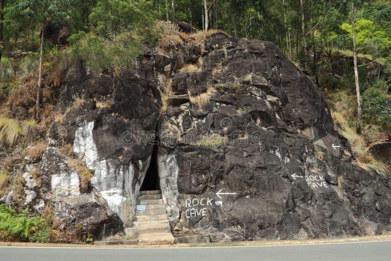 Caverna della roccia a Munnar, Kerala, India fotografia stock libera da diritti