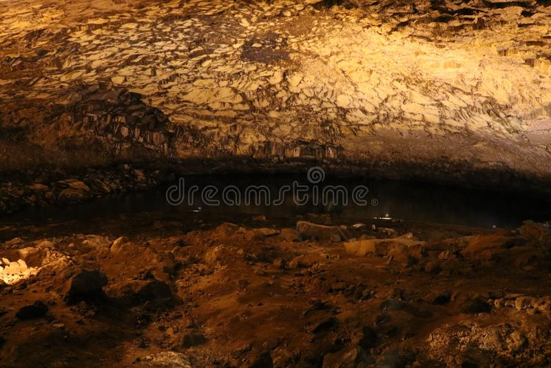 Caverna di enxofre in Graciosa, Azzorre immagini stock libere da diritti