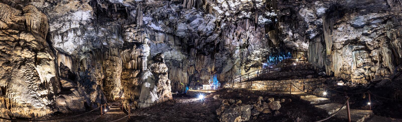 Caverna di Gerontospilios, Melidoni, Creta, fotografia stock