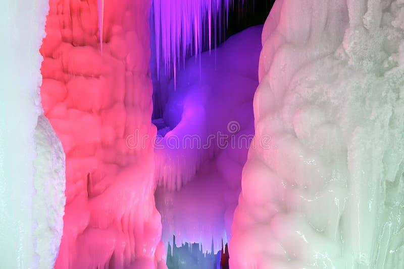 Caverna di ghiaccio immagini stock libere da diritti