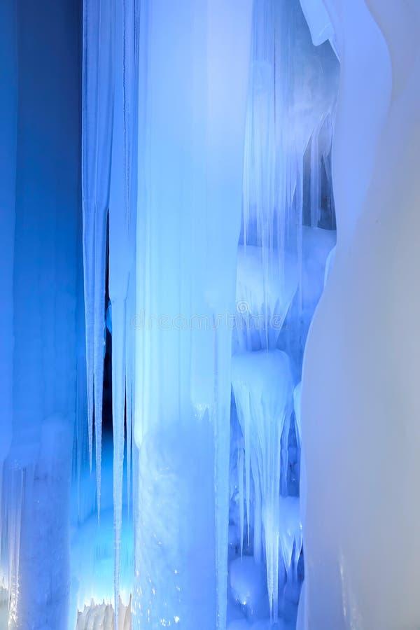 Caverna di ghiaccio fotografie stock libere da diritti