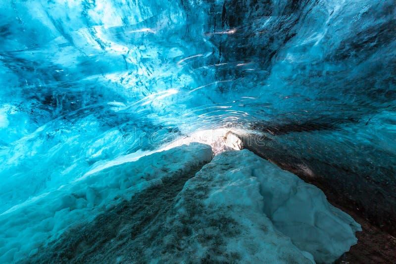 Caverna di ghiaccio Islanda immagini stock