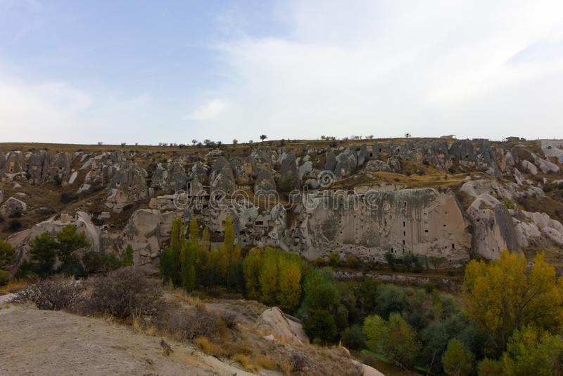 Caverna di Urgup Cappadocia Turchia dei luoghi pubblici fotografie stock