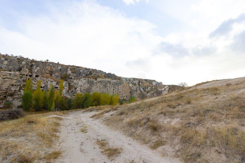 Caverna di Urgup Cappadocia Turchia dei luoghi pubblici fotografie stock libere da diritti