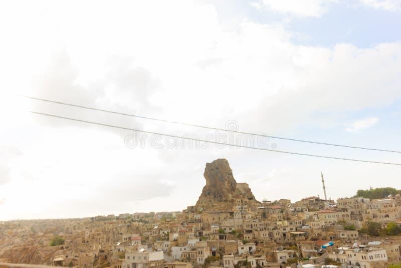 Caverna di Urgup Cappadocia Turchia dei luoghi pubblici fotografia stock libera da diritti