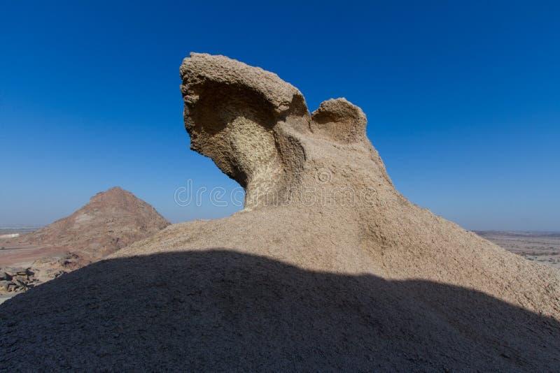 Caverna do príncipe Ahmed na cidade do reweda em Arábia Saudita fotografia de stock