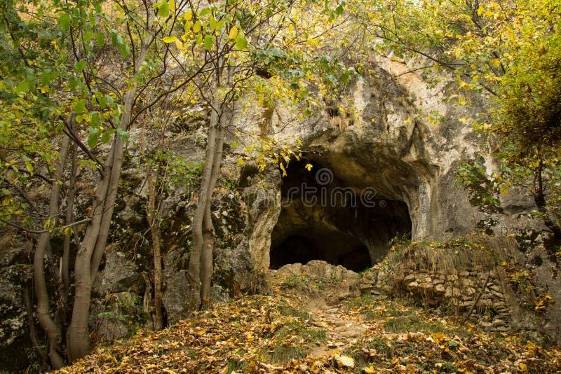 Caverna dos bastões imagens de stock