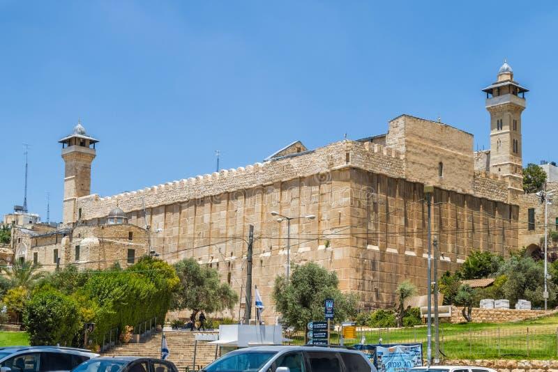 Caverna dos patriarcas, caverna de Machpelah em Hebron, Israel imagem de stock