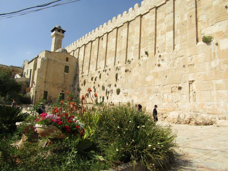 Caverna dos patriarcas em Hebron, Israel fotos de stock royalty free