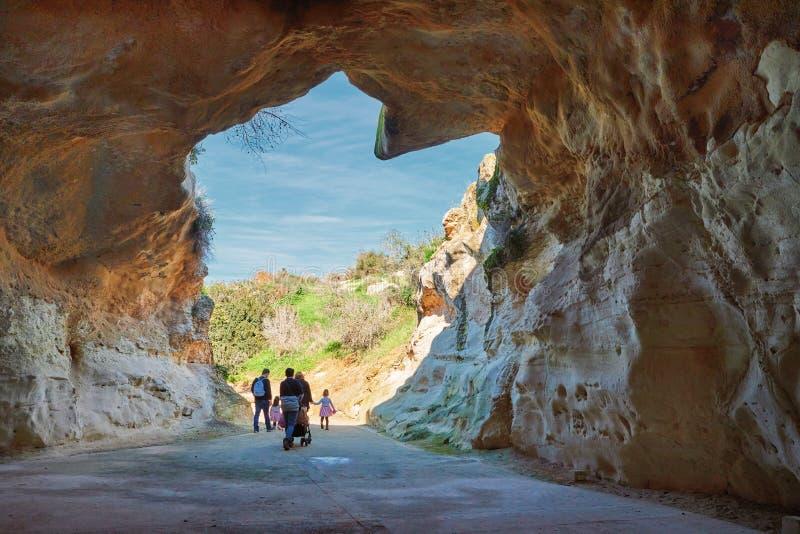 Caverna em Beit Guvrin Israel fotografia de stock royalty free
