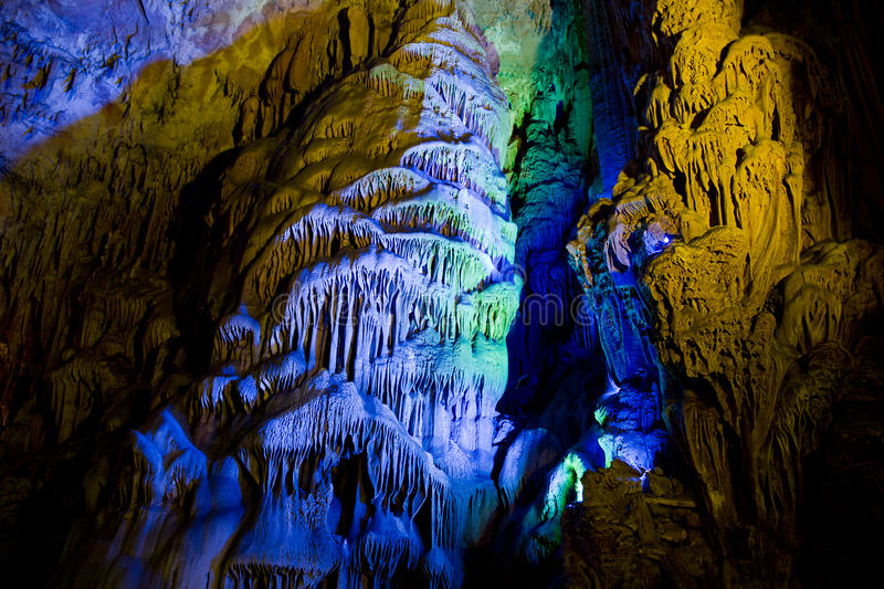 Caverna em Guilin, China fotografia de stock royalty free