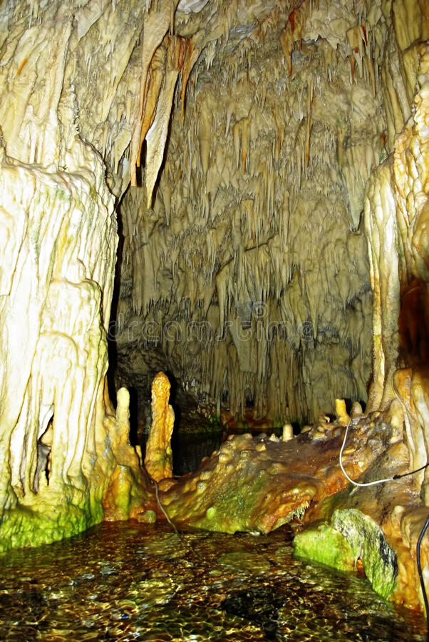 Caverna interna fotografia stock