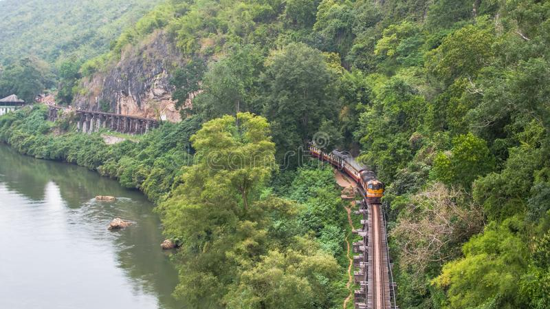 Caverna Krasae Kanchanaburi Tailândia Ásia da vista aérea fotos de stock royalty free