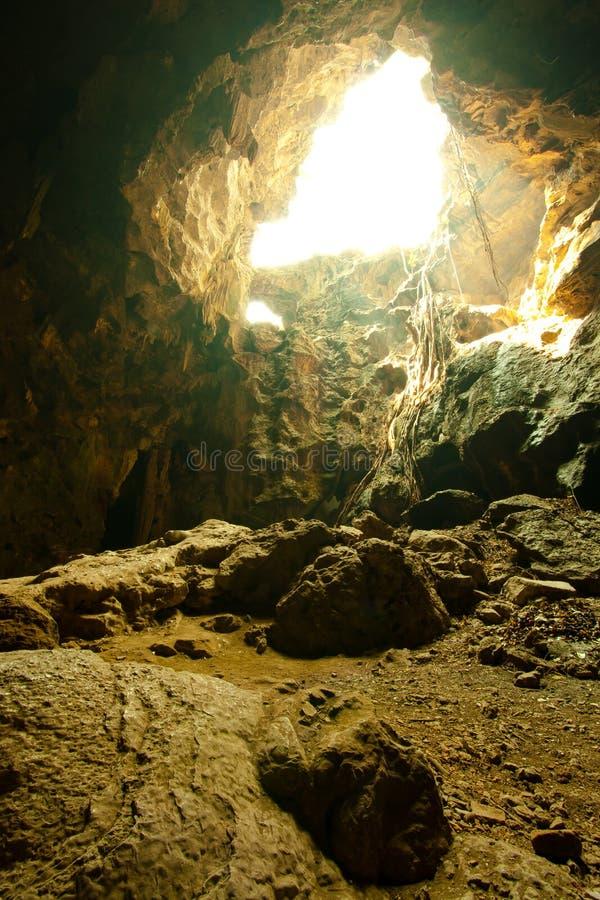 Caverna naturale fotografia stock