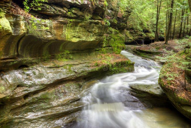 Caverna Ohio de homem idoso foto de stock