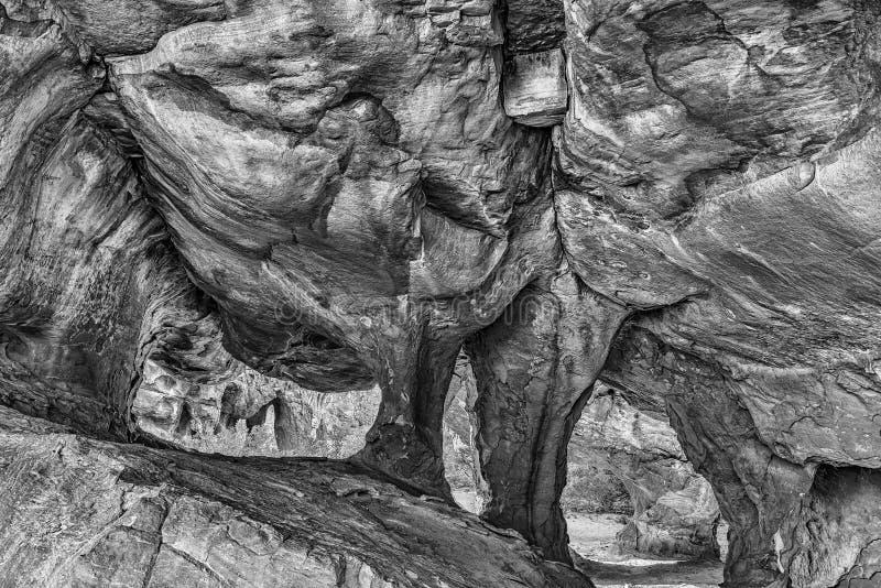 Caverna principal de Stadsaal nas montanhas de Cederberg monocromático imagem de stock royalty free