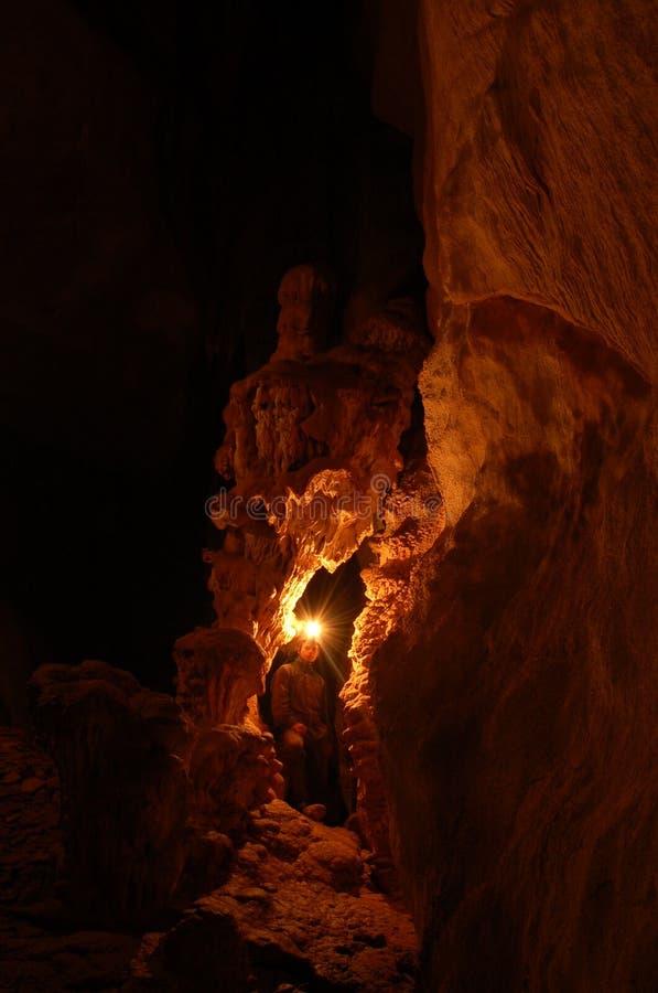 Caverna scura fotografia stock