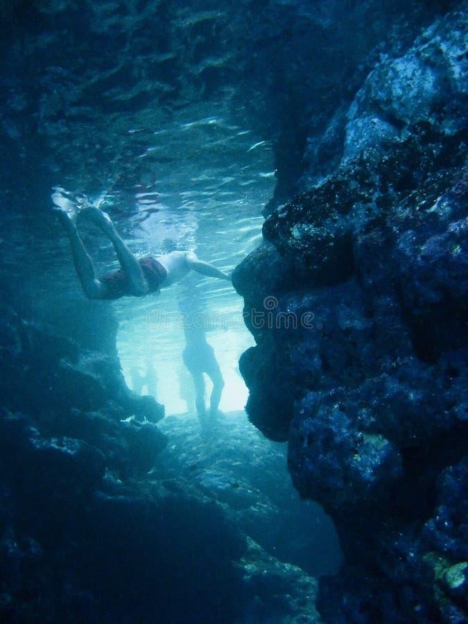 Caverna subacquea fotografia stock